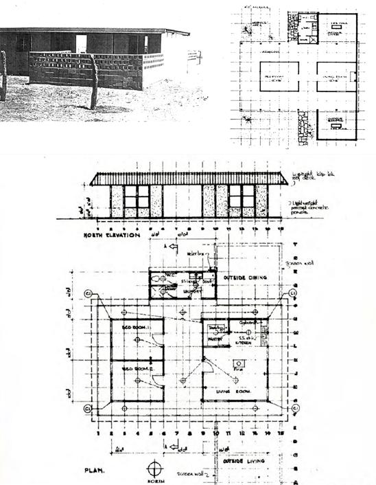 24 This design was one of the prototypical houses built in the Desert Housing Project, named the Aputula Mark III Space Frame house. Fig. 3.