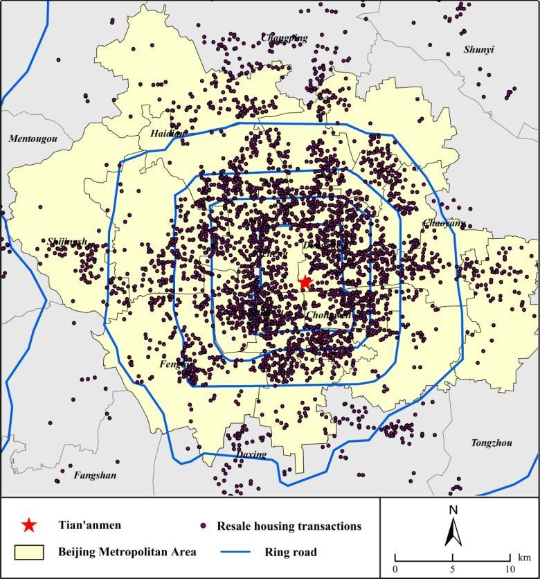 FIGURES Figure 1 Spatial Distribution of Sampled Resale Transactions in Beijing