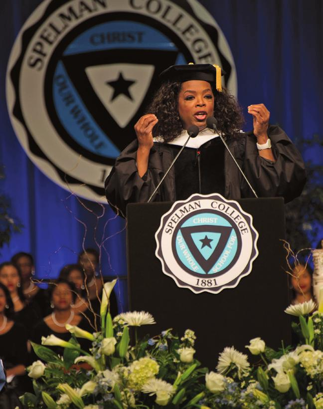 During commencement, Oprah Winfrey shared three pieces of advice with the Class of 2012: Know who