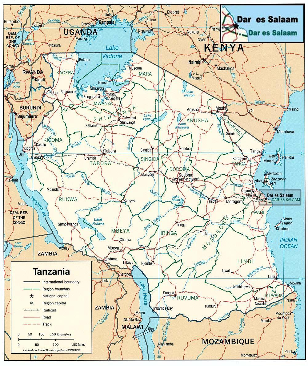 Figure 1 Map of Tanzania showing the location of Dar es Salaam The overall objective of the DTRP is to improve reliability and quality of power supply to its customers.