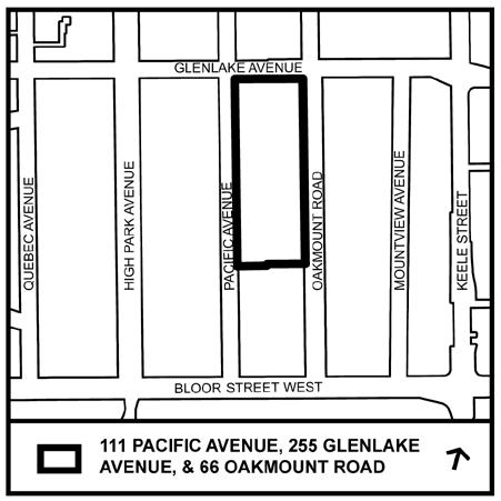 STAFF REPORT ACTION REQUIRED 111 Pacific Avenue, 255 Glenlake Avenue and 66 Oakmount Road- Zoning By-law Amendment Application Preliminary Report Date: March 17, 2017 To: From: Wards: Reference