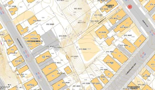 Attachment XXX Map of Vacant R-6 Land Vic. of Sumner Court and Cumberland Ave. 1.