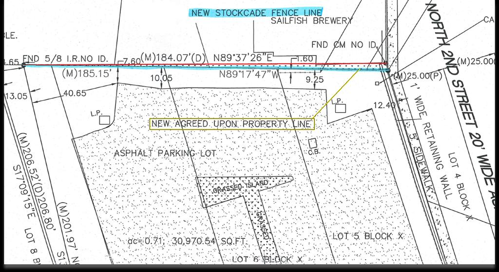 Current Property Line Proposed Property Line &
