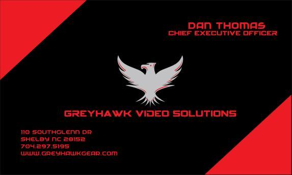 EQUIPMENT RETURN ADDRESS GREYHAWK VIDEO SOLUTIONS 110 SOUTHGLENN DR SHELBY NC 28152 APPLICATION INFORMATION NAME: ADDRESS: SHIPPING