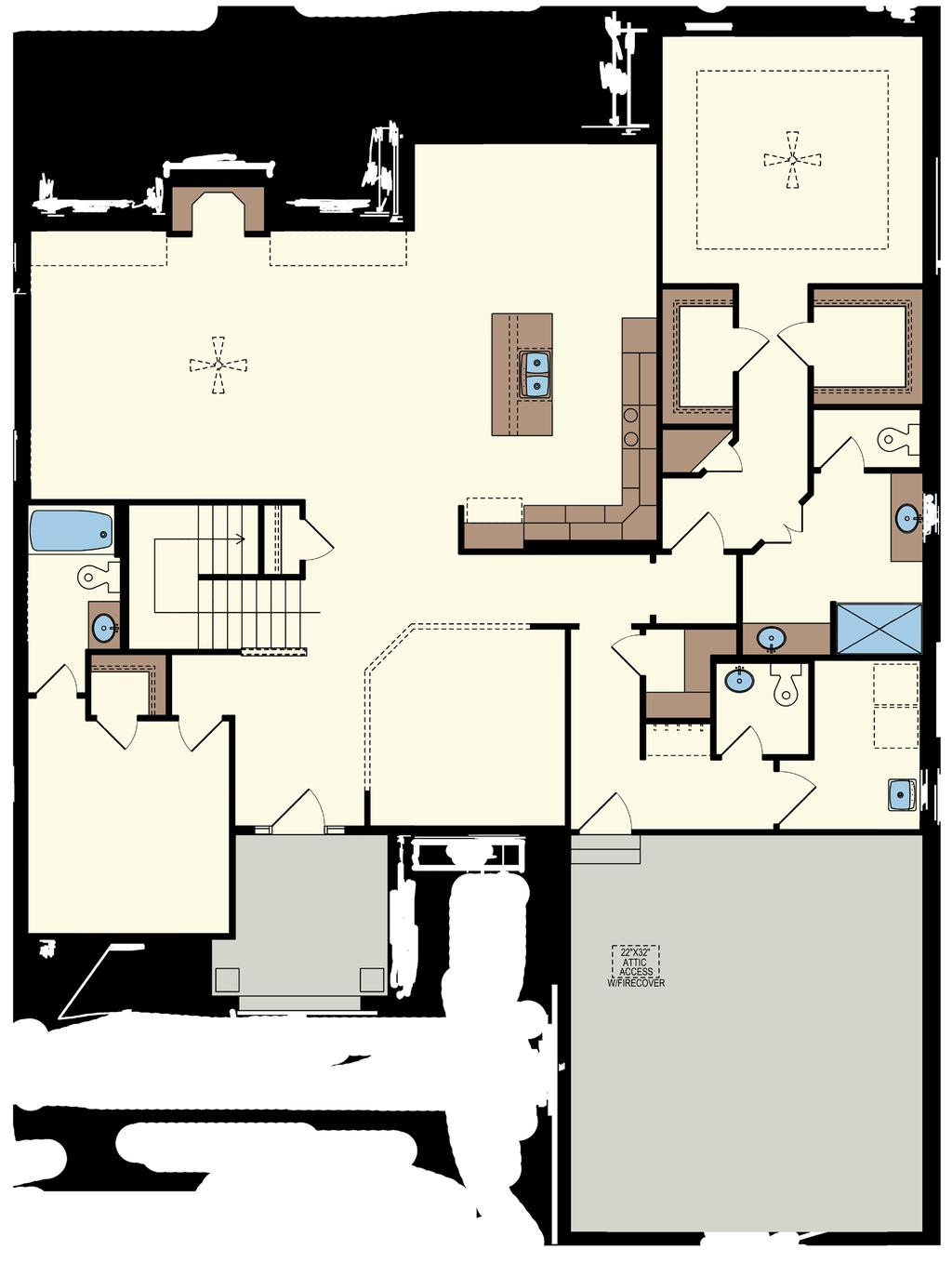 -CLASSIC FLOORPLAN - w/ Basement Foyer: 7 x 10 Great Room: 22 x 15 Nook: 13 x 9 Kitchen: 13 x 13 Flex Room: 11 x 11 Master Bedroom: 14 x 14