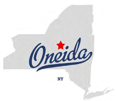The City of Oneida, New York, is located in Madison County, halfway between Syracuse to its west and Utica to its East, with beautiful Oneida Lake just five miles north.