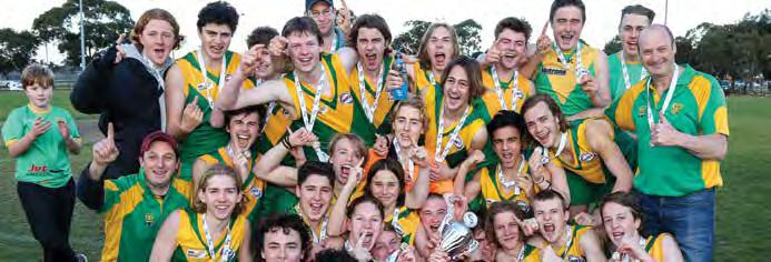 32 2017 WRFL Annual Report JUNIOR GRAND FINALS UNDER 17 DIVISION 2 TEAM P W L D % PTS Spotswood 13 12 1 0 186.22 48 Newport Power 13 11 2 0 249.59 44 Werribee Centrals 12 10 2 0 149.