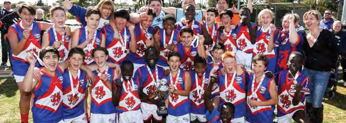 36 2017 WRFL Annual Report JUNIOR GRAND FINALS UNDER 13 DIVISION 3 TEAM P W L D % PTS Sunshine Heights 13 13 0 0 702.98 52 West Footscray 14 12 2 0 312.9 48 Sunshine 14 8 6 0 150.
