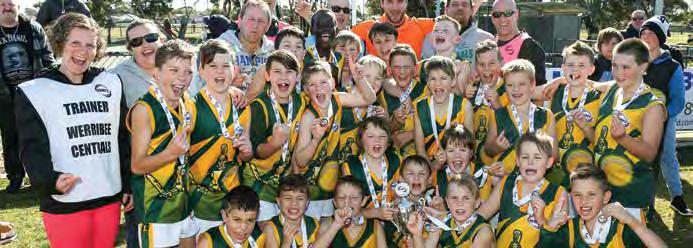 WRFL Annual Report 2017 39 JUNIOR GRAND FINALS UNDER 11 DIVISION 3 TEAM P W L D % PTS Deer Park 14 11 3 0 180.44 44 Werribee Centrals 14 10 4 0 156.6 40 Williamstown Juniors 14 10 4 0 123.