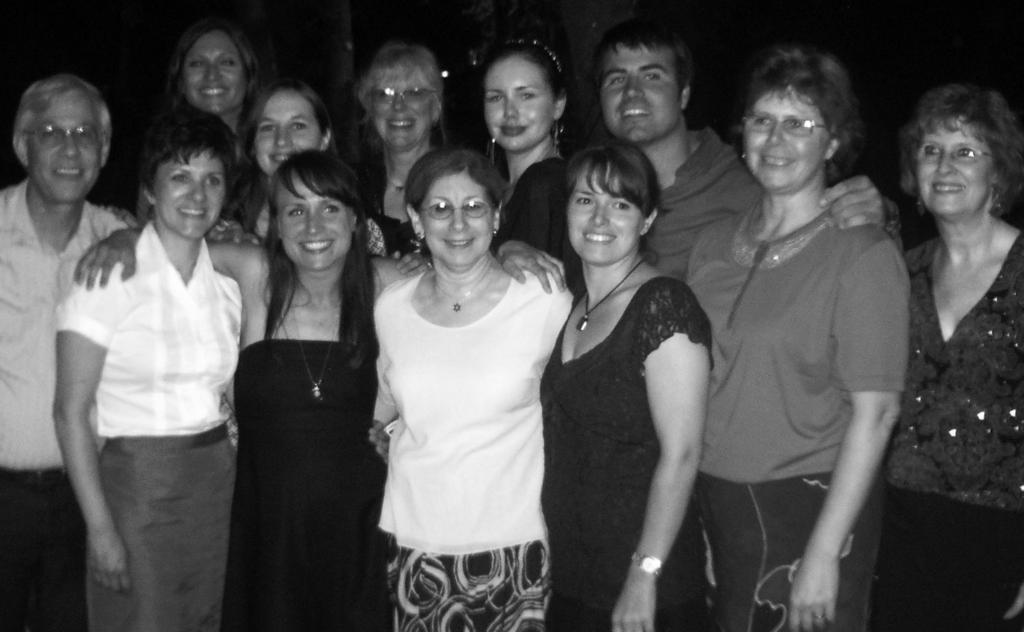 The Canadian delegation of 2008 seminar participants, including Karen Miller (back row, fourth from left), Nina Krieger (back row, fifth from left) and Shannon Miller (front row, second from left).
