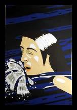 Alex Katz (b. 1927) Olympic Swimmer.