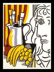 Roy Lichtenstein (1923-1997) Still life with Picasso. Lithograph, 1973.