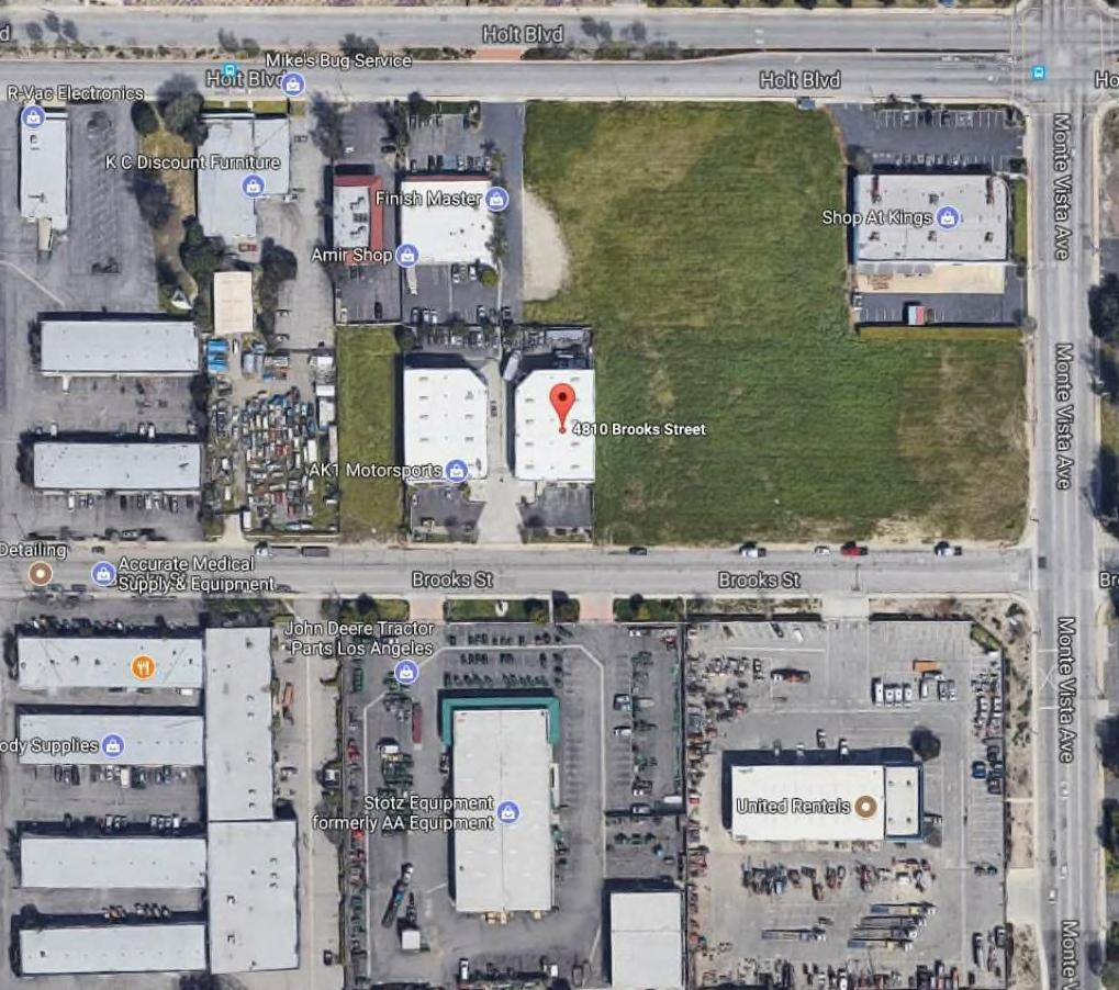Vicinity Aerial Map 4810 Brooks Street Montclair, California 91763 A.P.N.