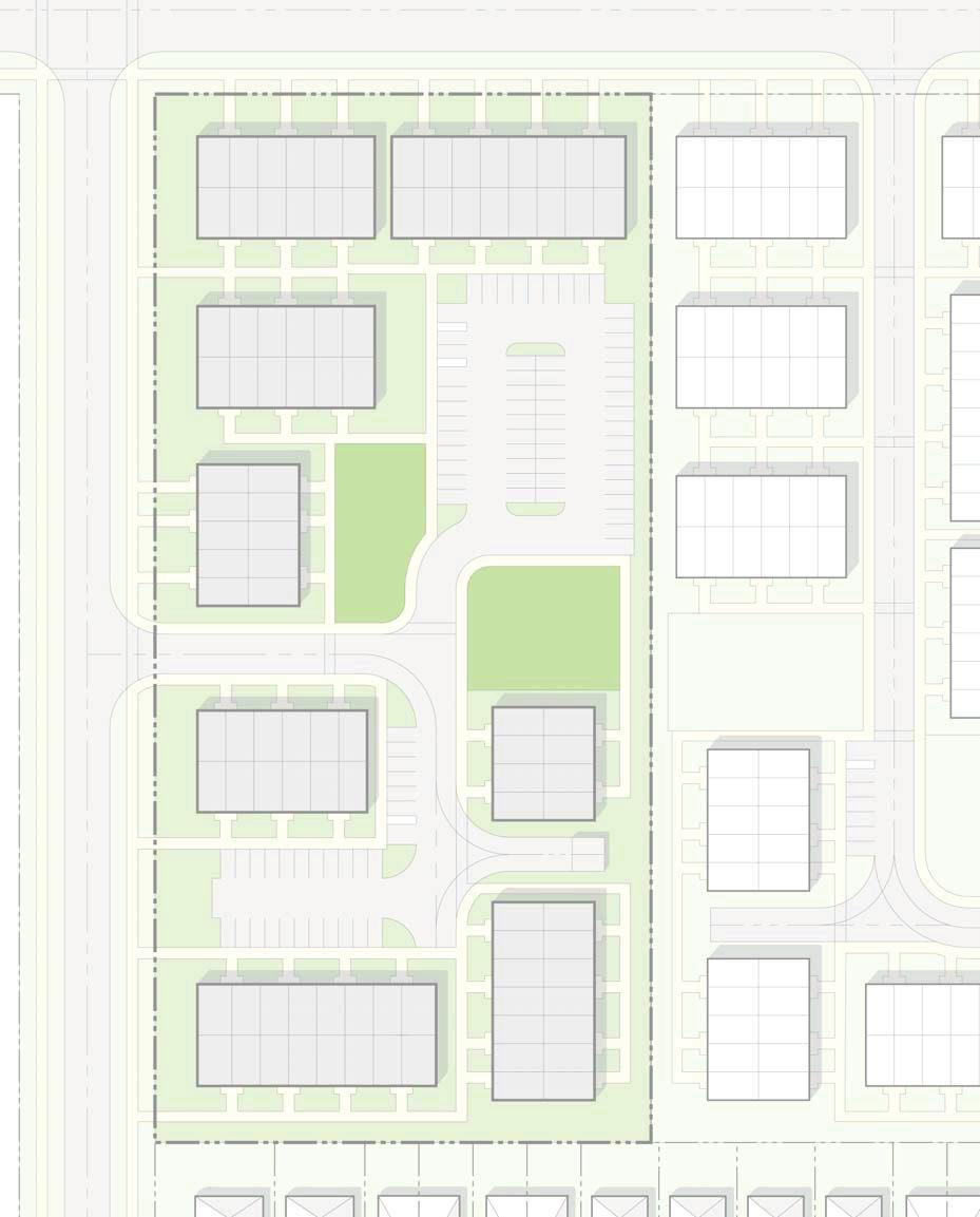 Appendix 1, Page 16 3.3 RM11 Back to Back Townhouses on a CEC-Road Design Standards Minimum lot frontage 38.0 m Min. front yard 7.5 m Side wall to side wall without walkway 3.0 m Min. Unit Width 5.