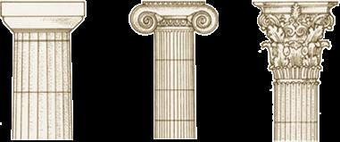 The Doric style is rather sturdy and its top (the capital), is plain. This style was used in mainland Greece and the colonies in southern Italy and Sicily. The Ionic style is thinner and more elegant.