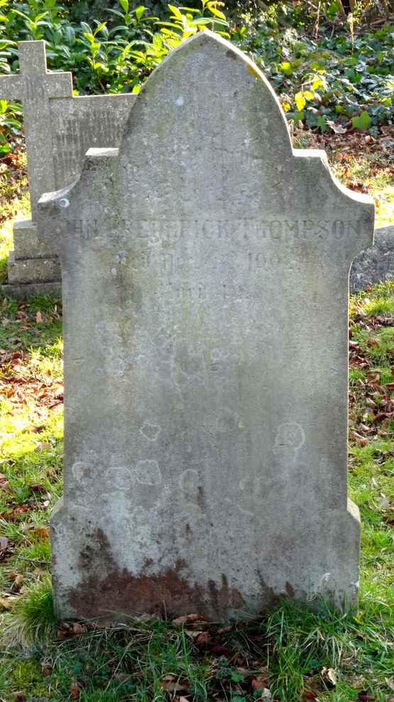 JOHN FREDERICK THOMPSON DIED NOVEMBER 1902 AGED 42