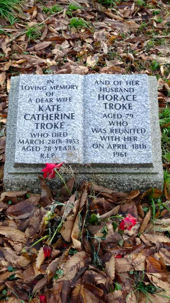 MARY ANN TROKE DIED 14 TH MARCH 1936 AGED 86 CYRIL LESLIE