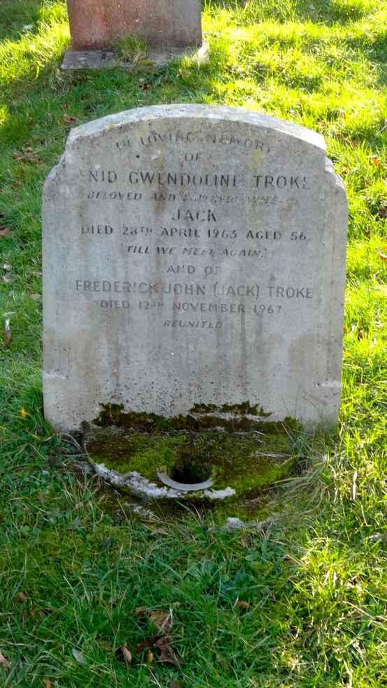 ALFRED TROKE DIED 19 TH APRIL 1935 AGED 63