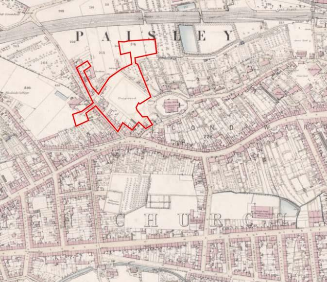 1.0 Historical Context WEST END, PAISLEY The West End of Paisley is an inner urban area located immediately to the west of Paisley Town Centre.