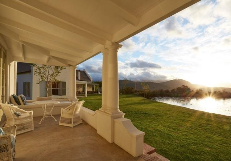 panoramic views of the Franschoek vineyards and