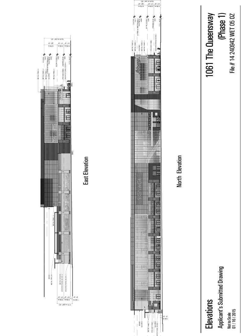 Attachment 3a: East and North Elevations Phase 1 Staff