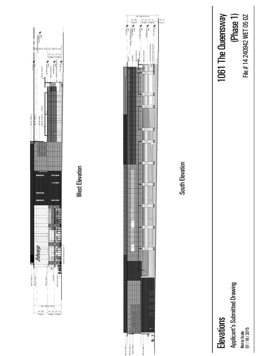 Attachment 3b: West and South Elevations Phase 1 Staff