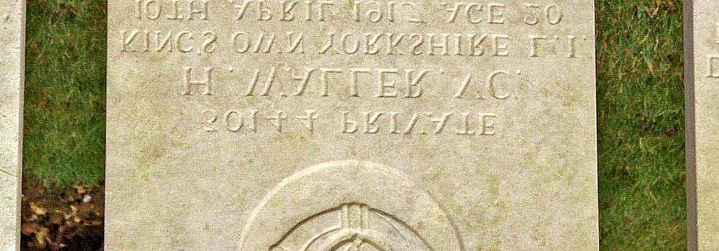 Of all e sixty two names on e Batley Grammar School Roll of Honour, Private Horace Waller received e highe