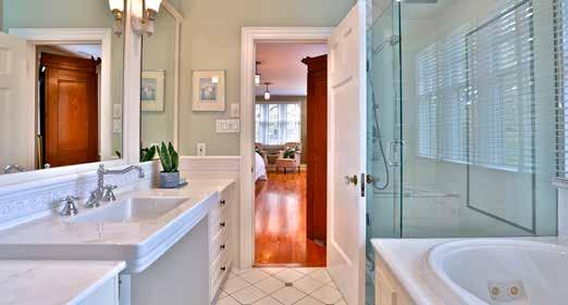 coverings Overlooks back garden Four Piece Ensuite Heated tile floor Custom built-in vanity Large shower with