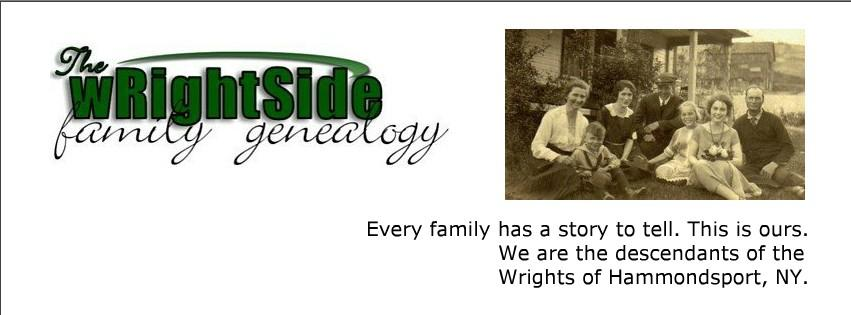 Edmond Wright B. Brownville, NY, March, 1833 D. Lindley, NY 9/12/1887 Sarah A. Bagley 1833 1909 William Wortman B. 11/21/1829 D. 6/14/1888 Mary McGowan B. 5/13/1841 D.