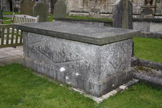 POSITION See Plan L18 Table Tomb Good IN MEMORY OF WILLIAM HALL, YEOMAN, LATE OF BOWES LODGE WITHERSLACK IN THE COUNTY OF WESTMORELAND WHO DEPARTED THIS LIFE JANUARY 2ND