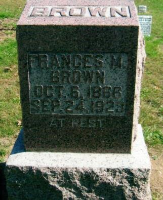 16 N BROWN, FRANCES M. Oct. 6, 1866 Sept.