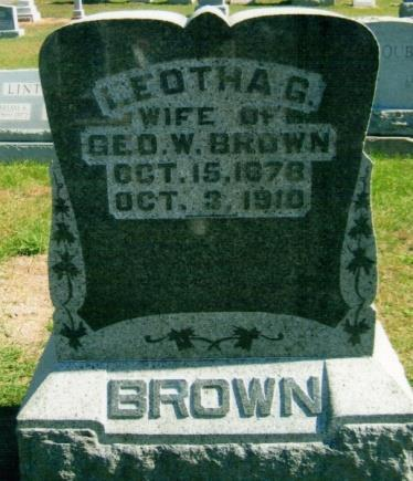 12 S BROWN, LEOTHA G. Oct. 15, 1878 Oct.