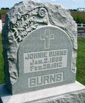 15 S BURNS, JOHNIE Jan. 2, 1886 Feb.