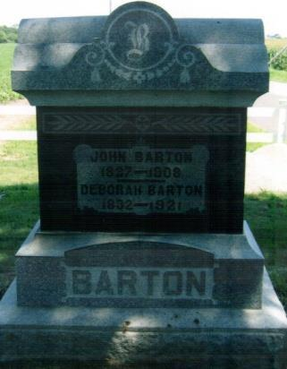 26, 1892 Son of John and Deborah Barton Aged 20Y.
