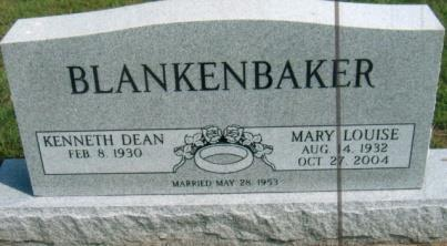 & 4MS 11 S BLANKENBAKER, KENNETH DEAN Feb.