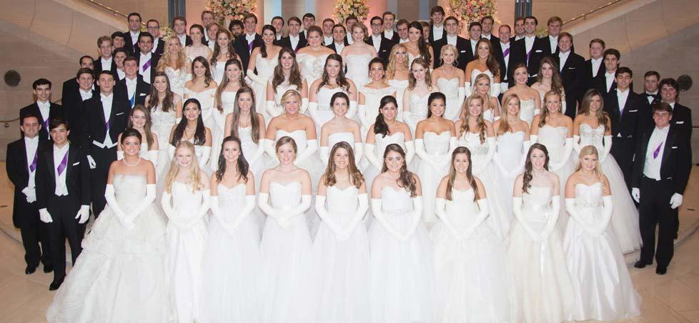 Top: Debutantes and Honor Guard at the