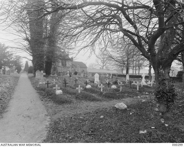 St George s Churchyard, Fovant, Wiltshire, England There was a 600 bed hutted military hospital at Fovant during the First World War, and