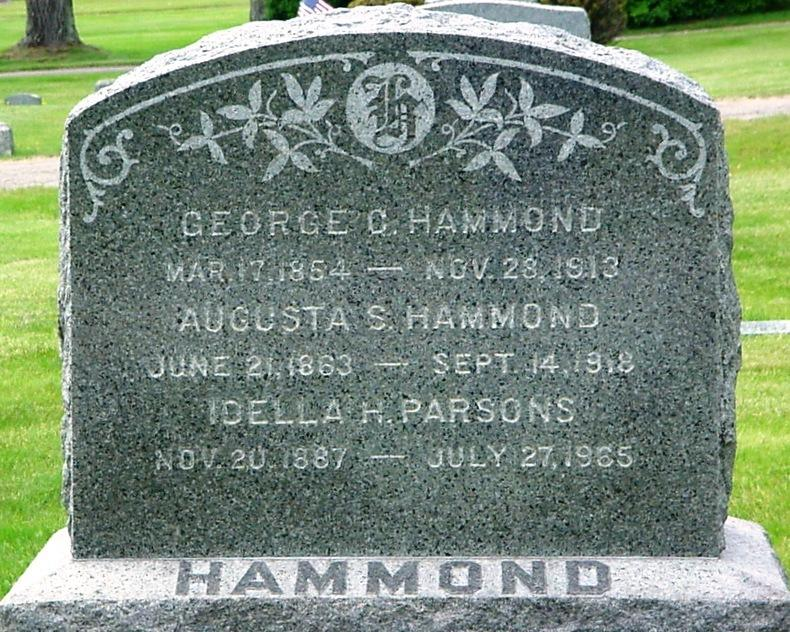 Hammond, Parsons Hammond, George C., Mar. 17, 1854-Nov. 28, 1913.