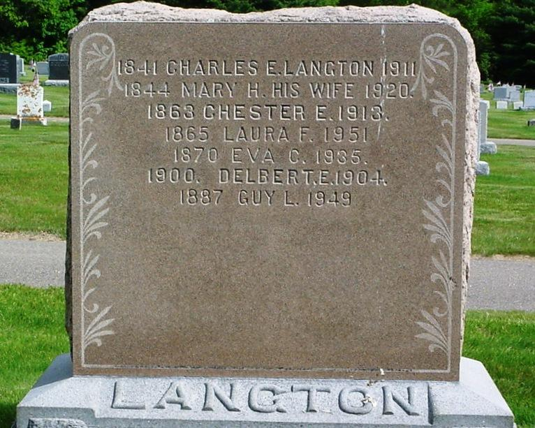 Langton (Continued) Charles E., 1841-1911. Mary H., w.