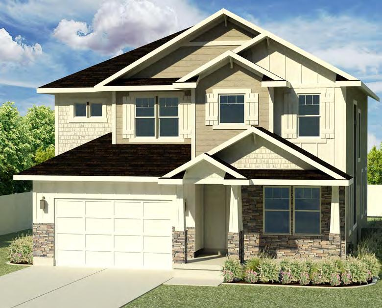 Bridgeport A CRAFTSMAN PLAN INFORMATION 4 Large Bedrooms 2.