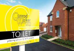 board erected at the property. Accompanied Viewing A member of Conrad Walker & Co. will always accompany prospective tenants on a viewing of your property.
