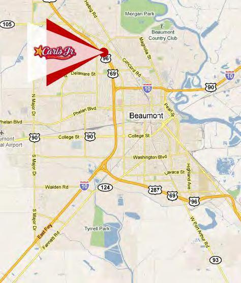 ABOUT THE LOCATION Beaumont, Texas Located approximately 85 miles east of Houston, Texas Beaumont is home of Lamar University, a national Carnegie Doctoral Research university with