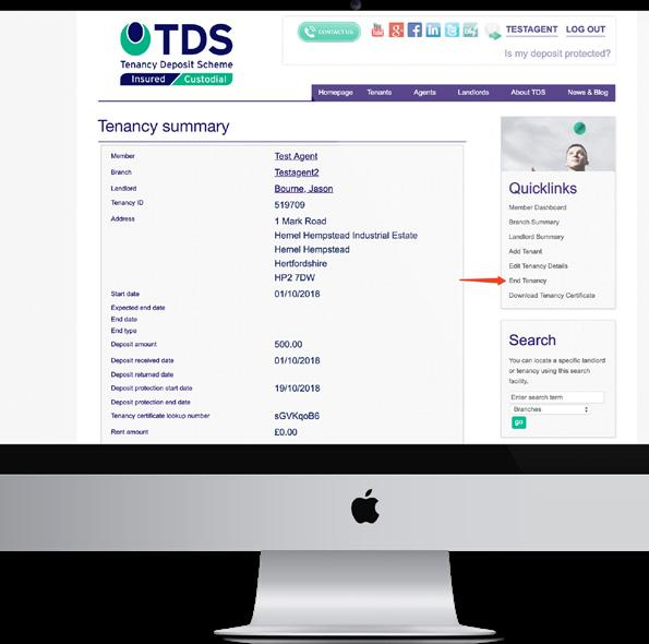 TDS INSURED TENANCIES ENDING AFTER THE 1 JUNE 2019 WHERE THE TENANCY IS RENEWED WITH A NEW FIXED TERM TENANCY If the tenancy is renewed after the 1 June 2019 and the new deposit is more than five or