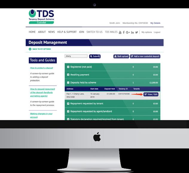 THE PROCESS YOU NEED TO ADOPT In the TDS Custodial scheme it is TDS that is holding the deposit so the process for repaying deposit above the cap is a little bit more complicated but we have
