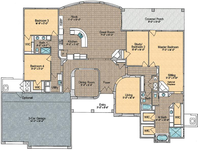 Dining Room, 3 Bedrooms, Study/4th Bedroom,