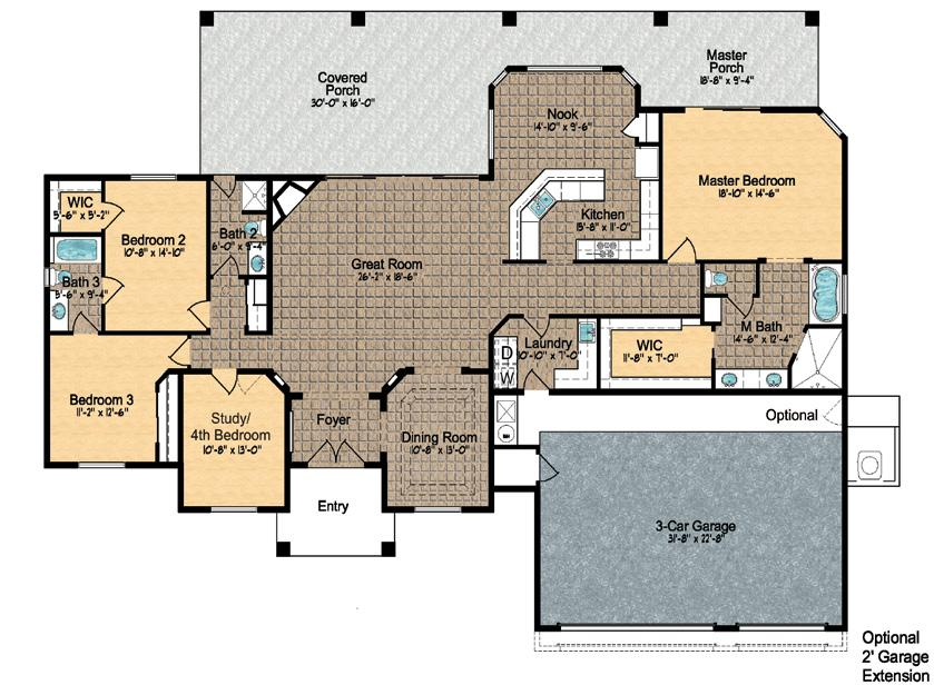 Model 2550 ~ Floor Plan Approximely 2550