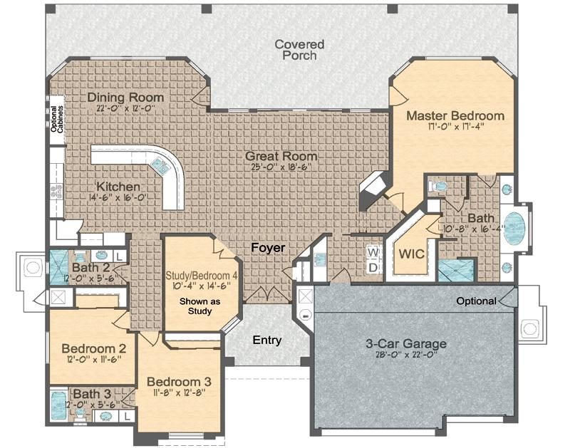 Model 2700 ~ Floor Plan Approximely 2700 sq. ft.