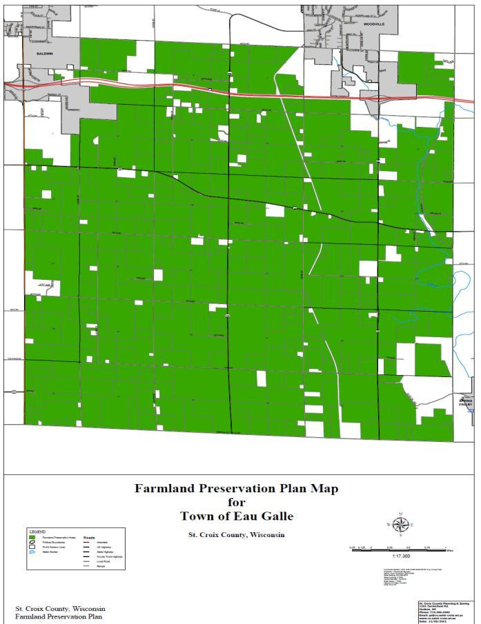 St. Croix County Comprehensive Plan 2012-2035 Farmland Preservation Plan A property can only be zoned into AG-1 (or AG-2) if