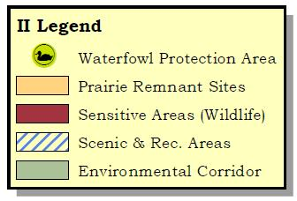 Production Areas, Prairie Remnant sites, Sensitive Areas (Wildlife), Scenic