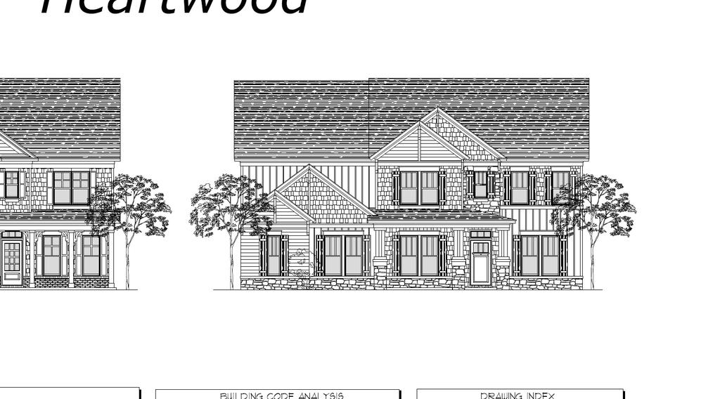 The Heartwood Elevation A Elevation B BREAKFAST FAMILY STUDY/ BED 6 MASTER SUITE LOFT /